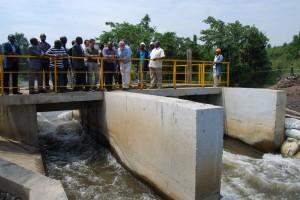 Joseph Kabila Kabange a visité ce mardi 4 août 2015 le chantier du central hydroélectrique de Matebe en territoire de Rutshuru.